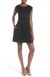 Speechless Women's Cap Sleeve Skater Dress Black