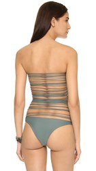 Mikoh Santorini String Back One Piece Army