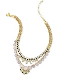 Kate Spade New York Gold Tone Bead And Crystal Drama Necklace