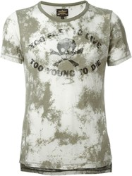 Vivienne Westwood Anglomania Too Fast To Live Print T Shirt Green