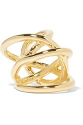Jennifer Fisher Large Abstract Line Gold Plated Ring