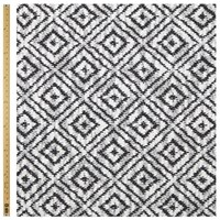 John Lewis Diamond Geometrical Knit Fabric Black White