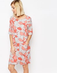 Selected Tunni Dress In Lunar Rock Print Grey
