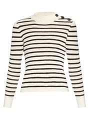 Etoile Isabel Marant Button Shoulder Striped Sweater