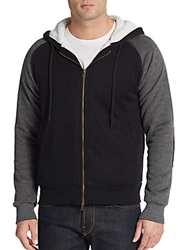 Saks Fifth Avenue Sherpa Lined Colorblock Hoodie