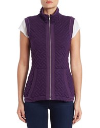 Context Quilted Stand Collar Vest Purple