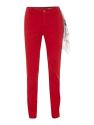 Oui Soft Cotton Chinos Red