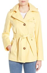 Women's Ellen Tracy Cotton Blend Short Trench Coat Buttercup