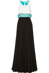 Prabal Gurung Convertible Beaded Silk Chiffon And Crepe Gown Black