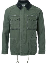 Bedwin And The Heartbreakers Pocketed Military Jacket Green