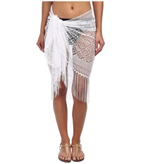 Miraclesuit Novel Ideas Crochet Sarong Cover Up White Women's Swimwear