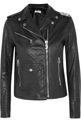 Golden Goose Chiodo Chara Embellished Leather Biker Jacket