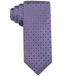Ryan Seacrest Distinction Men's Brentwood Dot Slim Tie Only At Macy's Purple