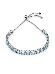 Saks Fifth Avenue Blue Topaz And Sterling Silver Bracelet