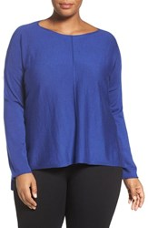 Eileen Fisher Plus Size Women's Merino Jersey Boxy Top