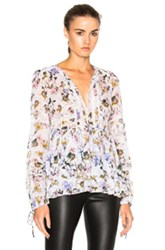 Marissa Webb Bella Top In Gray Floral Gray Floral