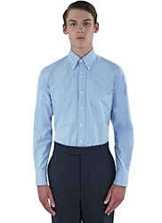 Thom Browne Striped Placket Classic Oxford Shirt Blue