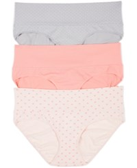 Motherhood Maternity Foldover Briefs 3 Pack Grey Pink Heart