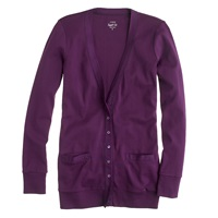 J.Crew Perfect Fit Mixed Tape Cardigan Luscious Plum