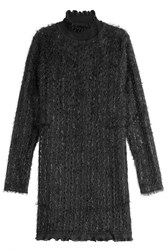 Carven Turtleneck Dress With Shimmer Black