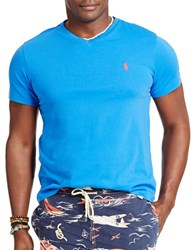 Polo Big And Tall Classic Fit Jersey V Neck T Shirt Spa Royal