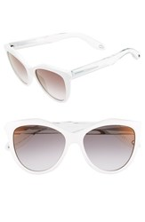 Women's Givenchy 55Mm Retro Sunglasses White Crystal