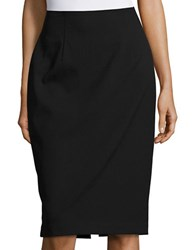 Ellen Tracy High Waist Pencil Skirt Black