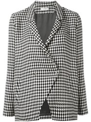 Roseanna Houndstooth Tweed Jacket Black