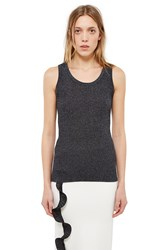 Opening Ceremony Disco Rib Tank Top Charcoal