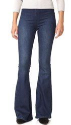 Free People Gummy Denim Penny Pull On Flares Denim Blue