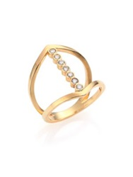 Zoe Chicco Diamond And 14K Yellow Gold Cross Ring