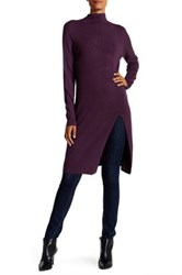 Cullen Double Knit High Slit Tunic Purple