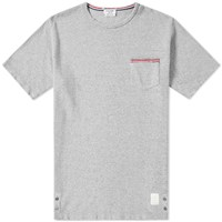 Thom Browne Distressed Pocket Tee Grey