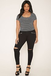 Forever 21 Plus Size Ripped Skinny Jeans