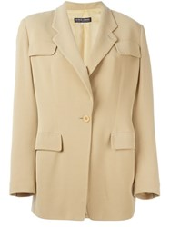 Giorgio Armani Vintage Single Button Blazer Nude And Neutrals