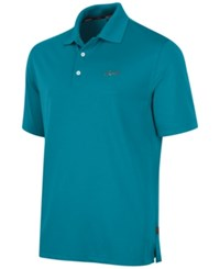 Greg Norman For Tasso Elba Men's 5 Iron Performance Golf Polo Freshwater Teal