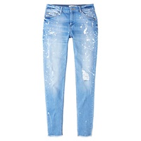 Mango Slim Fit Pol Jeans Open Blue