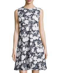 5Twelve Fit And Flare Floral Eyelet Dress Navy White