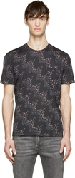 Maison Martin Margiela Black Irregular Flower Print T Shirt