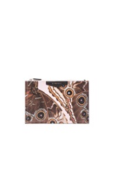 Givenchy Butterfly Pouch In Animal Print Pink