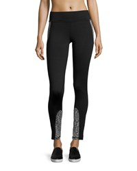 Marc New York Marc Ny Performance High Tech Colorblock Leggings Black White