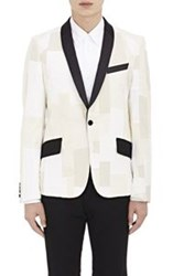 Junya Watanabe Man Comme Des Garcons Patchwork Single Button Sportcoat Nude