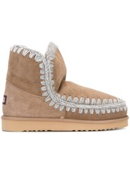 Mou 'Eskimo' Ankle Boots Nude And Neutrals