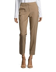 Karl Lagerfeld Slim Fit Cropped Dress Pants Camel