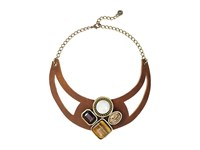 Leather Rock N212 Tobacco Necklace Brown