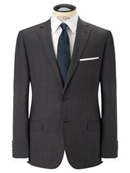 Daniel Hechter Crossweave Single Breasted Suit Jacket Grey