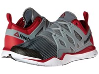Reebok Zcut Tr 3.0 Flat Grey Excellent Red Black White Men's Cross Training Shoes Gray