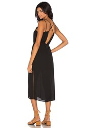 Krisa Cross Back Midi Dress Black