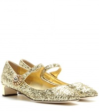 Dolce And Gabbana Jackie Sequin Embellished Pumps Gold