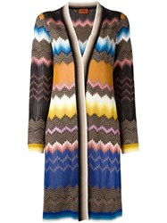 Missoni Abstract Pattern Cardi Coat Multicolour